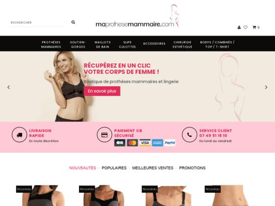 maprothesemammaire.com : soutien-gorges et maillots de bain pour prothèses mammaires