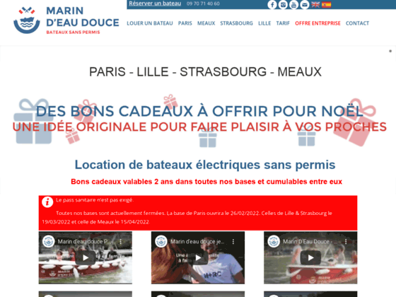 Location de bateau �lectrique sans permis � Paris