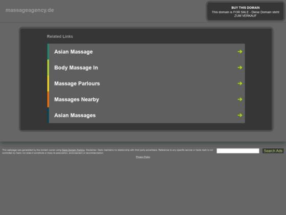Скриншот сайта massageagency.de