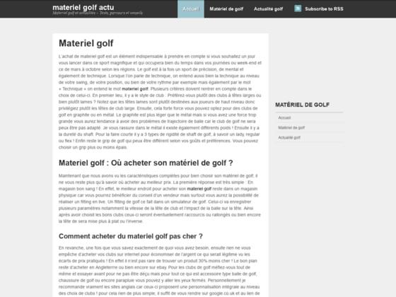 blog de golf : Tests materiel golf pas cher