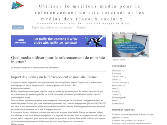Utiliser le meilleur média pour le référencement de site internet et les médias des réseaux sociaux.