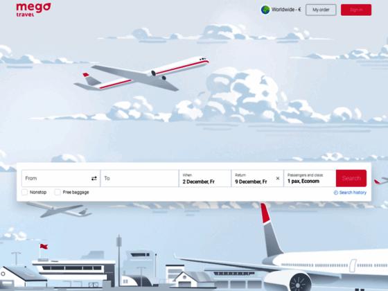 Скриншот сайта mego.travel