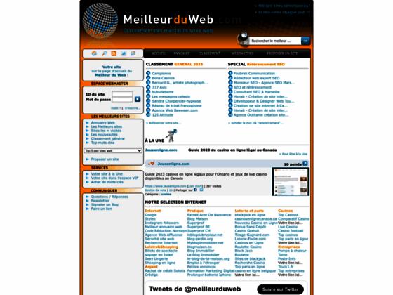 :: MeilleurDuWeb :: Classement annuel des meilleurs sites web