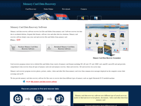 MAC memory card data recovery software recover lost photo picture rescue utility