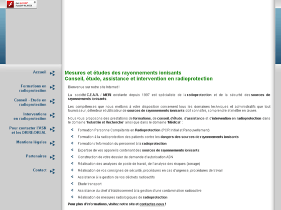 MERI CEAR - Contrôle Radioprotection Formation PCR