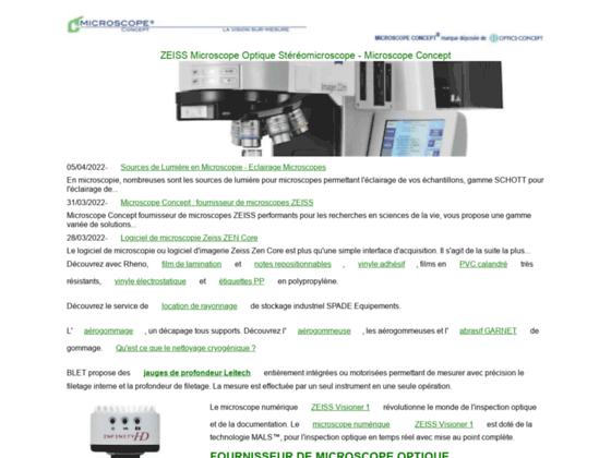Microscopes Optiques - MICROSCOPE CONCEPT