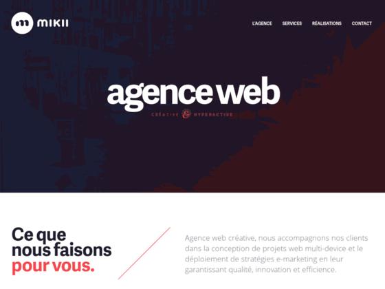 Agence web créative | mikii.fr | Création site int