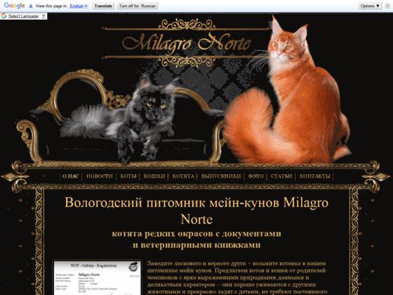 Скриншот сайта milagronorte.com