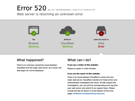 Скриншот сайта www.miu-sochi.ru