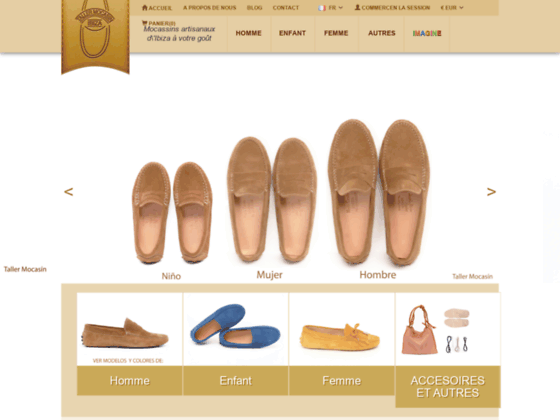 L'atelier du mocassin, vente en ligne de mocassins