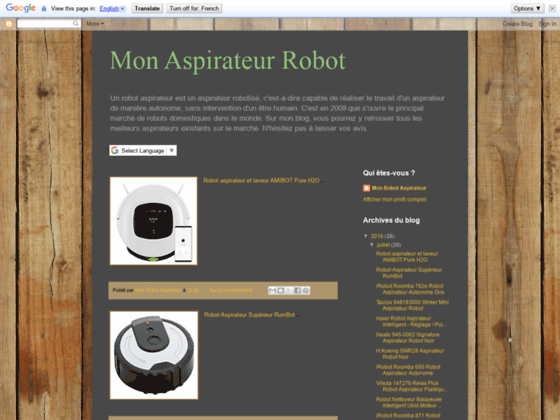 Notre aspirateur robot ezicom