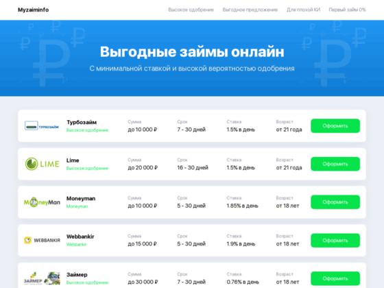 Скриншот сайта money24online.ru