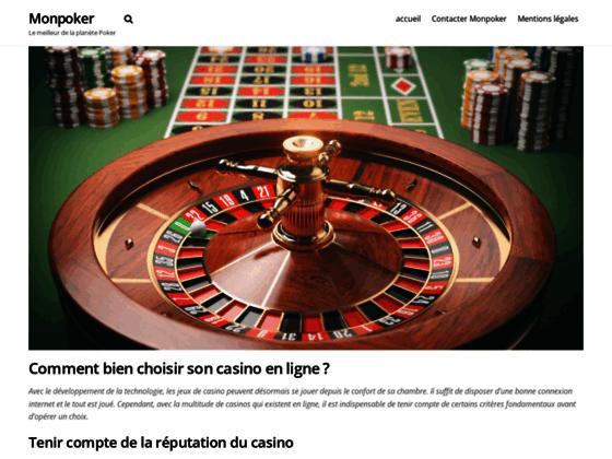 Mon poker, blog et site d'information
