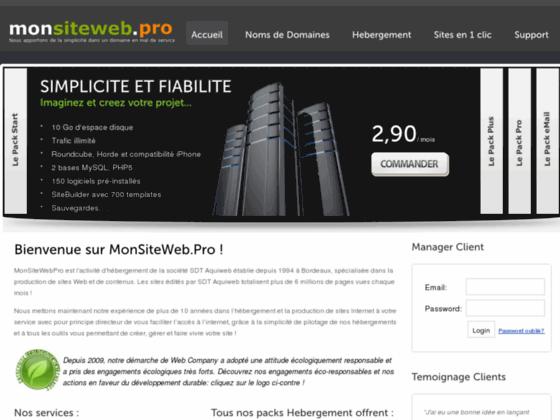 Mon Site Web Pro Hebergement Internet premium