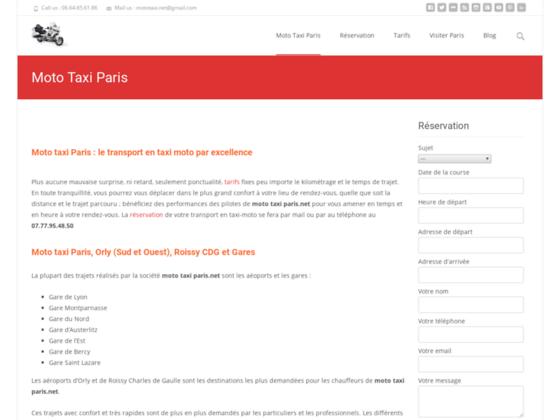 Moto Taxi Paris