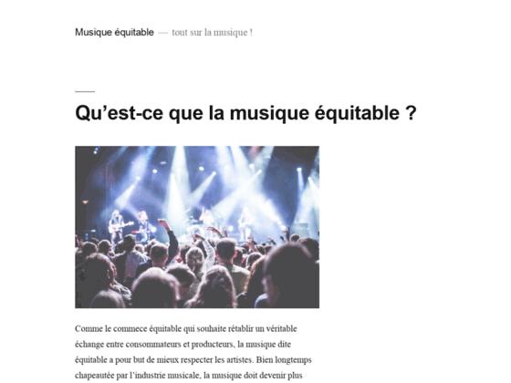 Musique Equitable