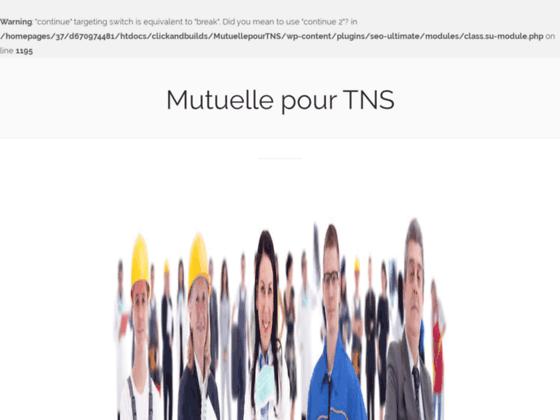 Votre mutuelle travailleur non salarié (TNS) en ligne