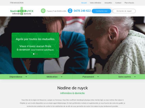 Infirmière à domicile Mouscron - Nadine de Ruyck
