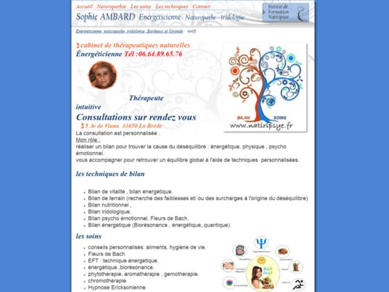 Consultations en Naturopathie et Iridologie, Bordeaux et gironde,  www.naturopathe-iridologue-saj.c