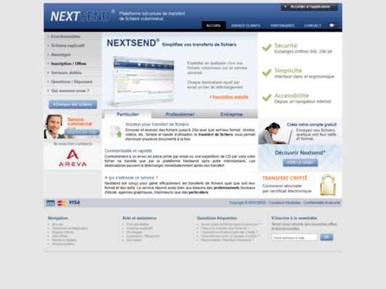 Transfert de fichier s�curis� Nextsend, envoi de gros fichiers