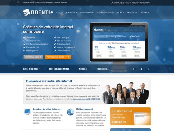 ODENTI : creation site internet professionnel