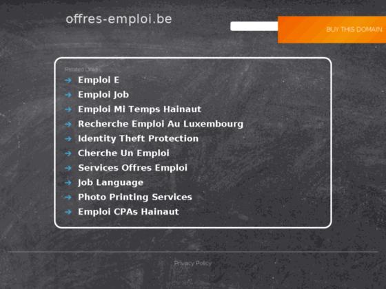 A la recherche d'un emploi? ne cherchez plus...trouvez! grâce à www.offres-emploi.be