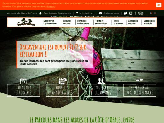 Parc de loisir dans les arbres, 62, Pas-de-Calais