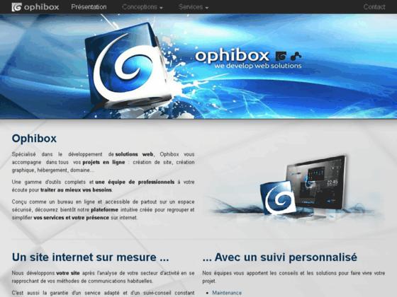 Ophibox - créateur de sites - particuliers et professionnels
