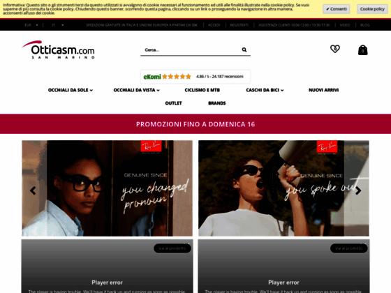 Скриншот сайта www.otticasm.com