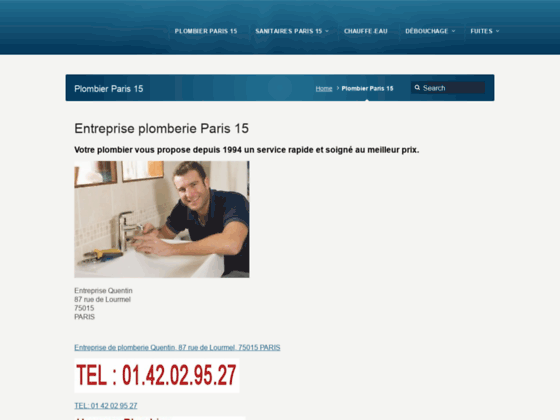 Plombier Paris 15 Plombier Paris 15