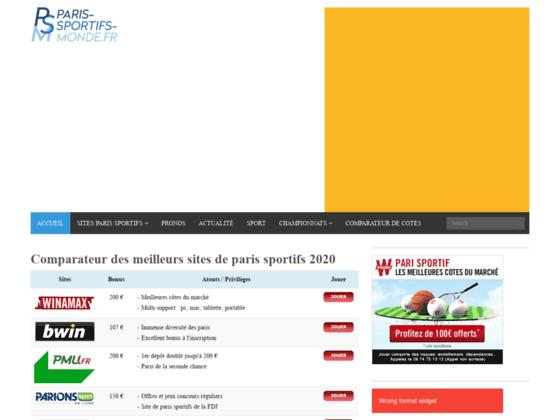 Paris-Sportifs-monde.fr: le comparateur des meilleurs bookmakers 2014!