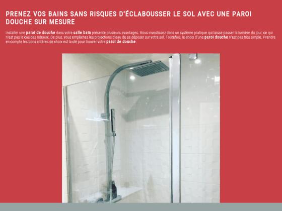 Le guide de la paroi de douche et de baignoire - Paroi-De-Douche.Com