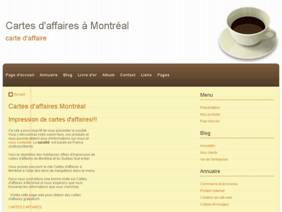 Cartes d'affaires à Montréal