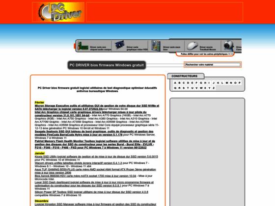 Pc-driver.net telecharger mise a jour bios driver firmware PC gratuit Windows