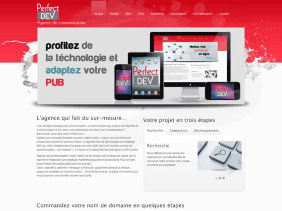 Perfect Dev – Agence de communication – Création de site web à El Jadida Maroc – Hébergement et Nom