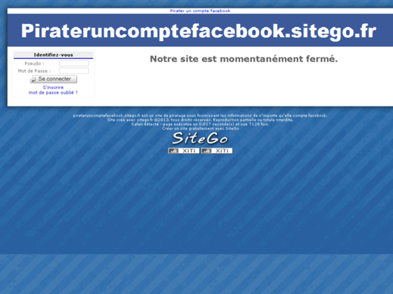 Pirater un compte facebook