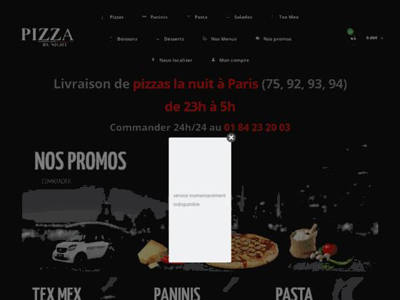livraison de pizza la nuit sur paris