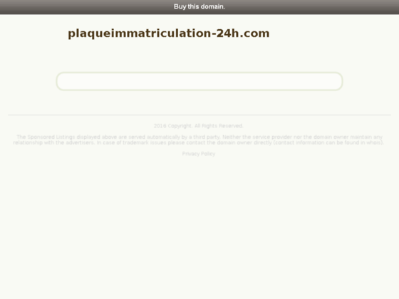 plaque immatriculation en ligne