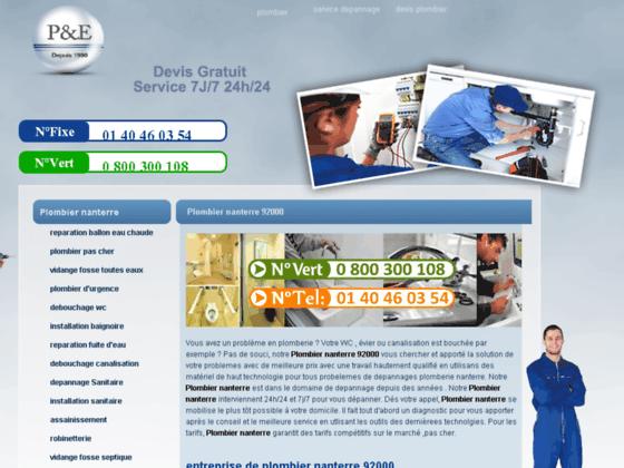 plombier nanterre 92000 - plombier professionnel
