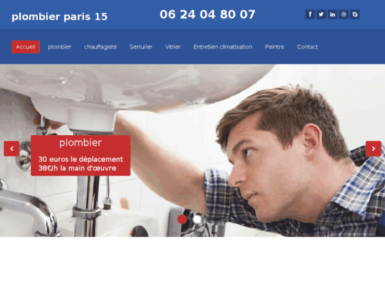 Plombier Paris 15 24/24