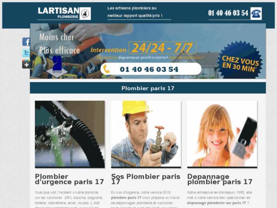 plombier paris 17 - plombier 75017
