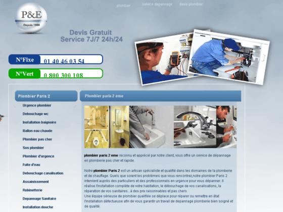 plombier paris 2 eme : depannage plomberie paris 75002
