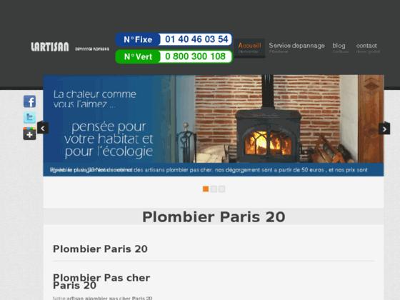 plombier paris 20 - plombier 75020