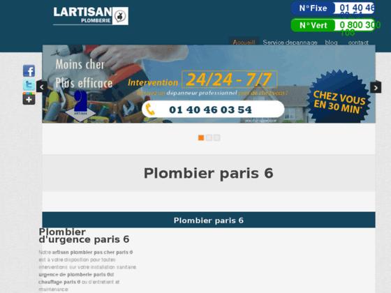 plombier  paris 6 - plombier 75006