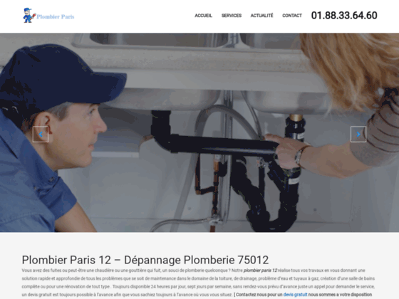 Dépannage chauffage Paris 12