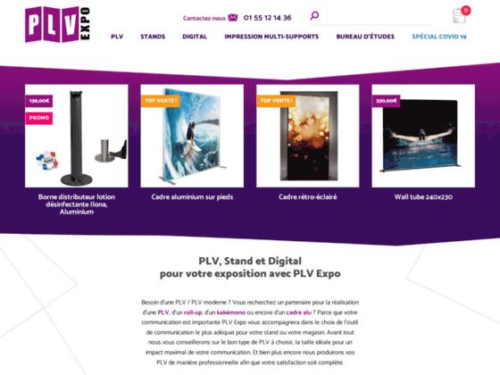 Impression numérique PLV Expo: Qualité et Simplicité sur totems, kakémonos, enrouleurs et stands