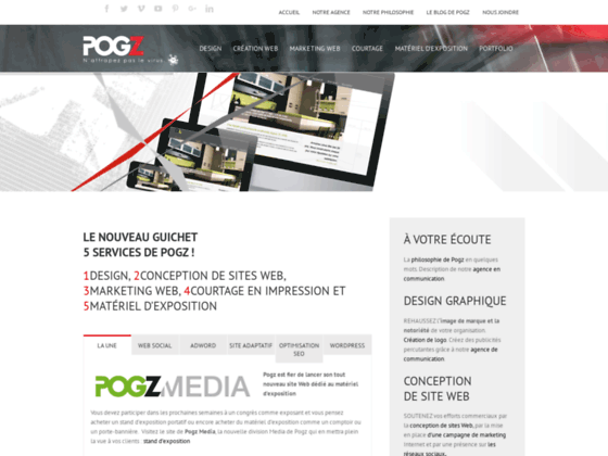 Conception de sites Web, design et graphisme