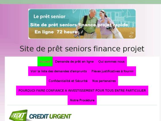 TOUTES LES SOLUTIONS DE FINANCEMENT ADAPTEES AUX SENIORS - Site de pret-seniors-finance-projet !