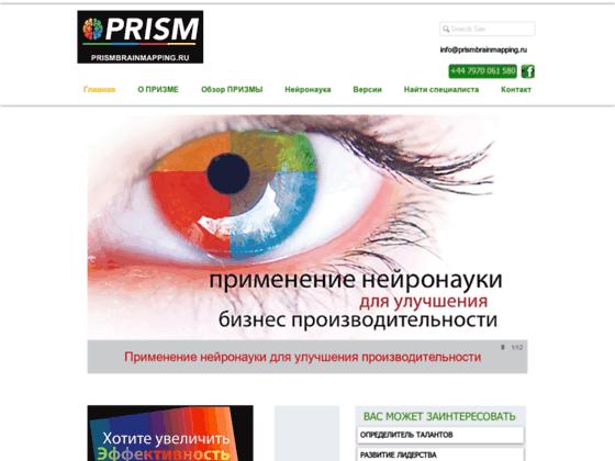 Скриншот сайта www.prismbrainmapping.ru