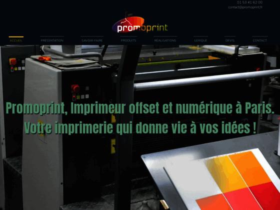 Promoprint, imprimerie à paris